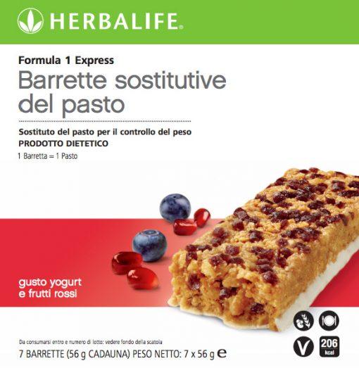 Formula 1 Barretta Sostitutiva del Pasto Yogurt e Frutti Rossi