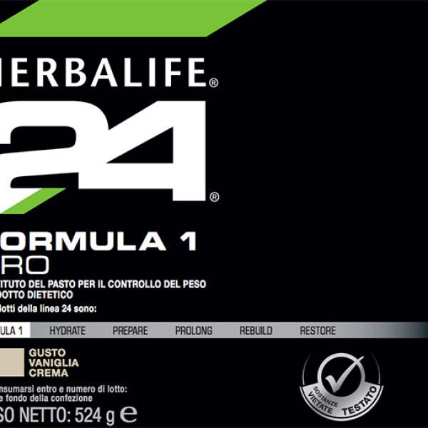 H24 Formula 1 Pro Herbalife Etichetta