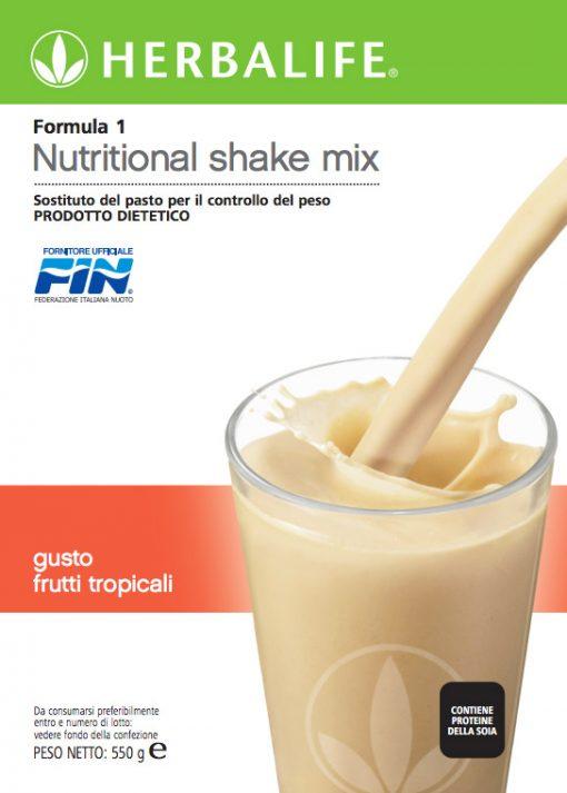 Herbalife Formula 1 Sostituto del Pasto Gusto Frutti Tropicali