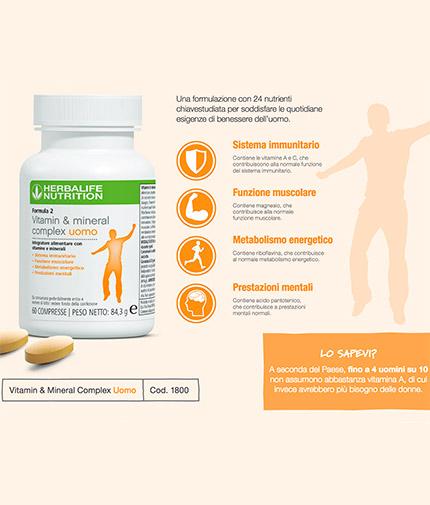 Formula 2 Vitamin & Mineral Complex Uomo